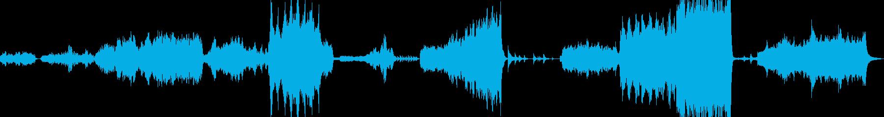 感動シーンに使われる壮大なオーケストラの再生済みの波形