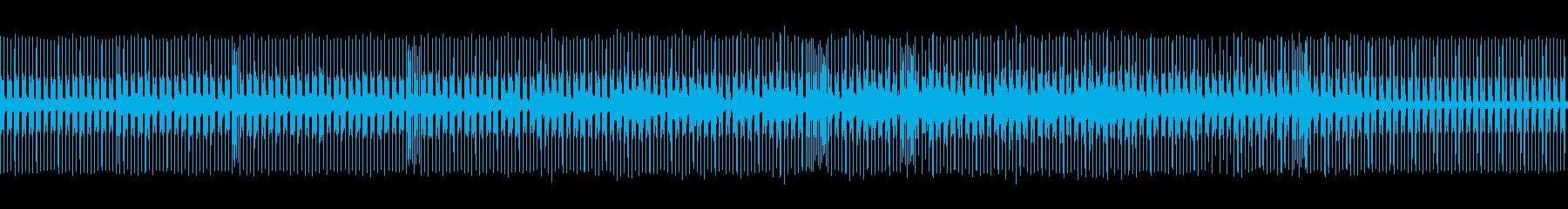 少しアップテンポな曲。遅いハウスの再生済みの波形