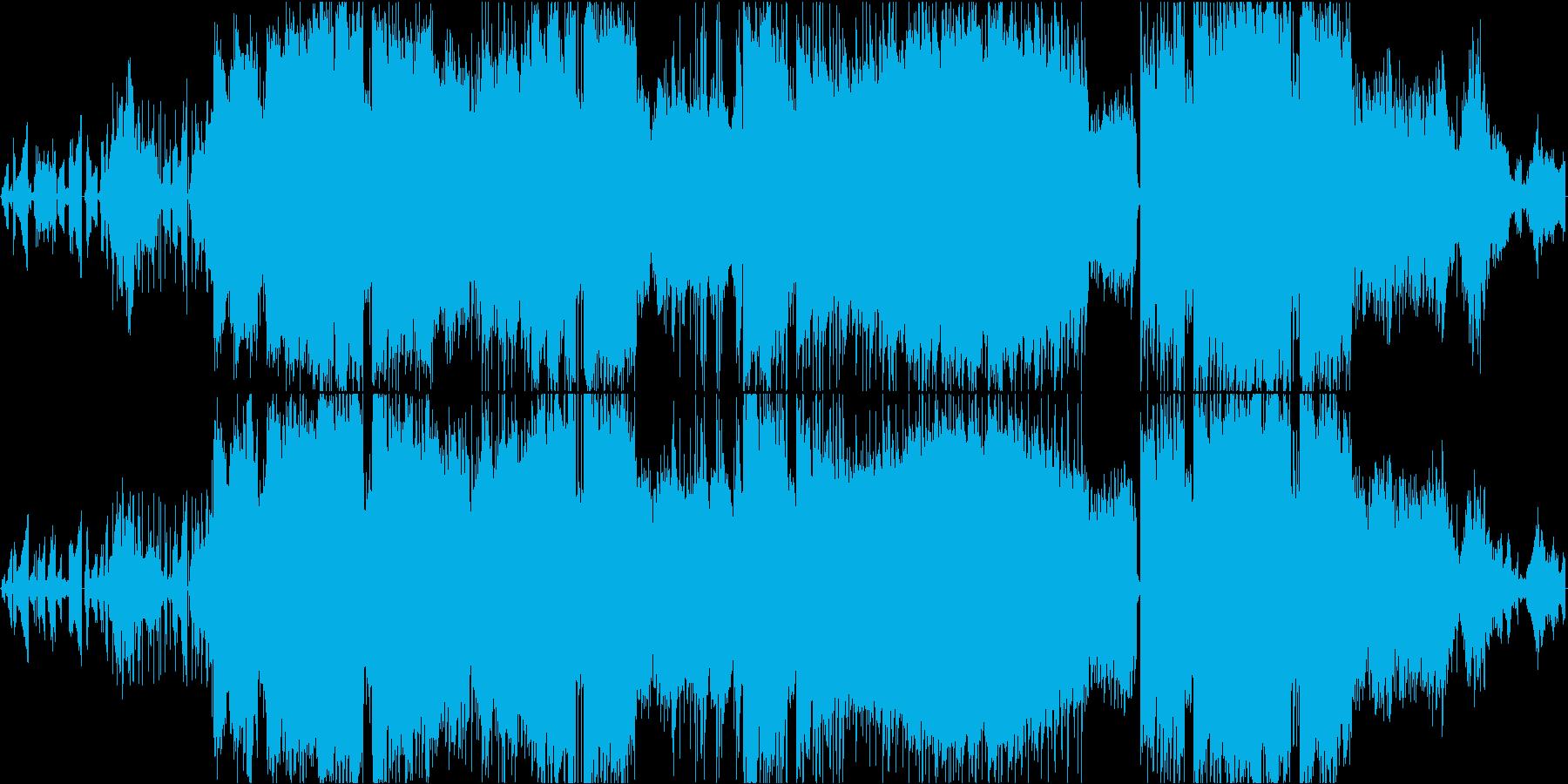 波紋をイメージした和やかで癒やしの一曲の再生済みの波形