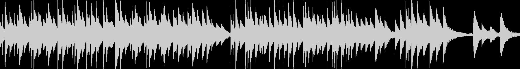 切なく温かいオルゴール(ループ)の未再生の波形