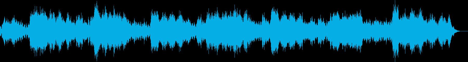 ゆったりと仄暗い曲の再生済みの波形