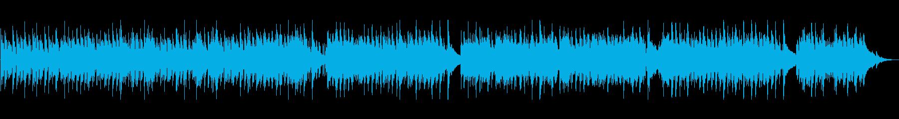 ギターが特徴的なボサノバの再生済みの波形