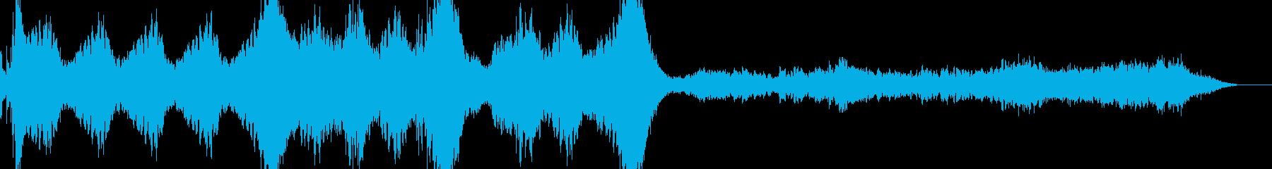 ミステリアスでダークな雰囲気のBGMの再生済みの波形