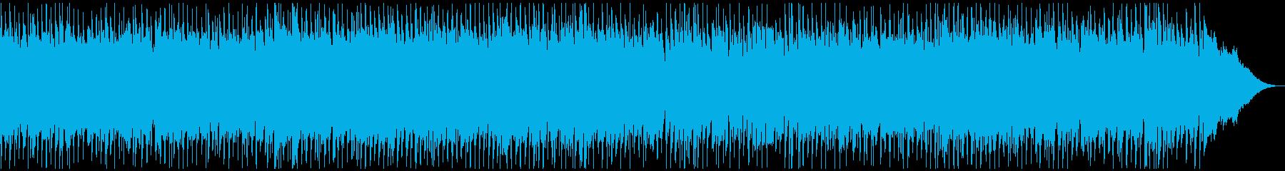 生音エレキギターの元気一杯ロックンロールの再生済みの波形