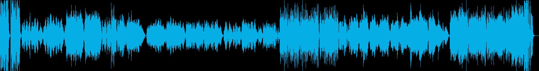 【生演奏バイオリン】埴生の宿変奏曲の再生済みの波形