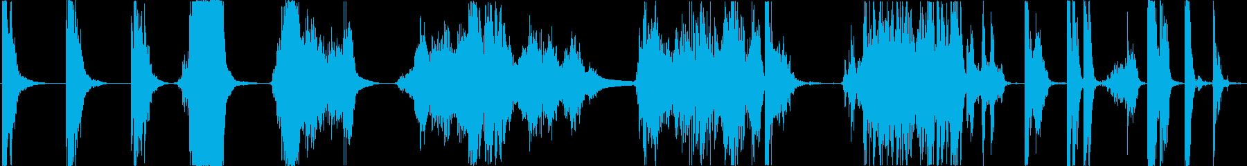 重金属ドロップとドラッグスクラップ...の再生済みの波形
