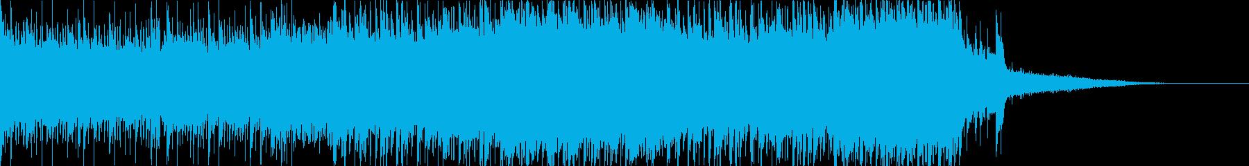 短めで暗めなドラムンベースの再生済みの波形