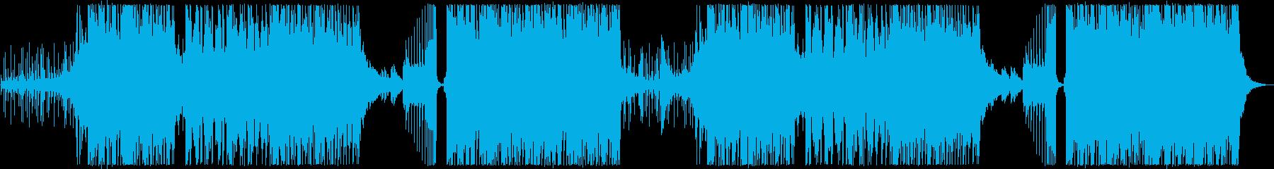 お洒落で広がりのあるシンセサイザーの曲の再生済みの波形