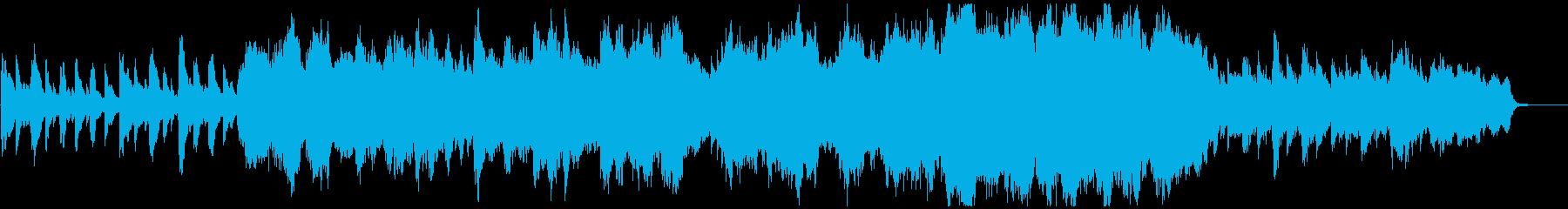 ハロウィン風のチェンバロとオーケストラの再生済みの波形