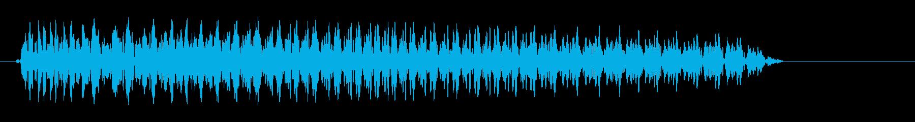 ビョーン(光線中の音)の再生済みの波形