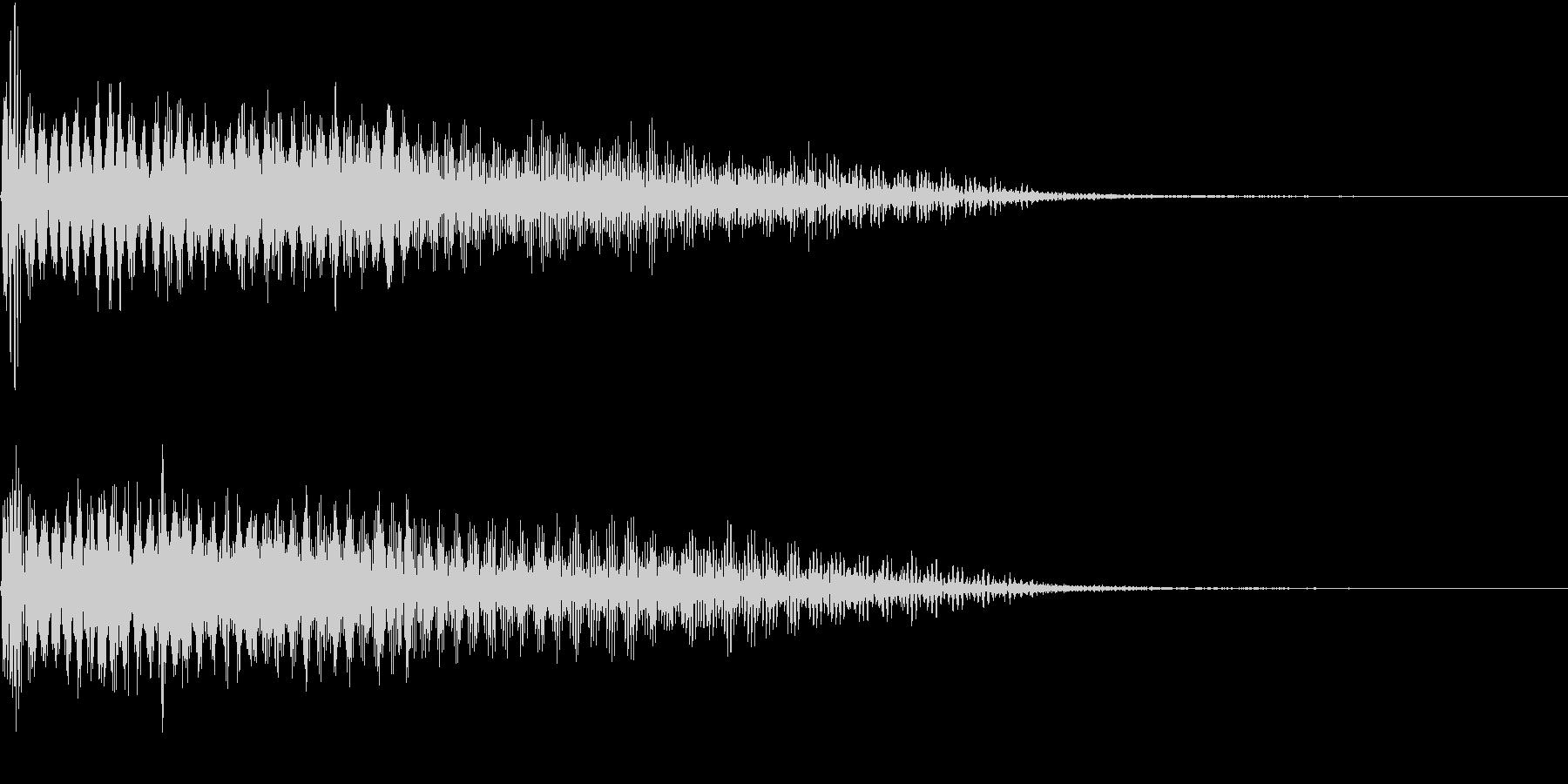 InvaderBuzz 発砲音 32の未再生の波形