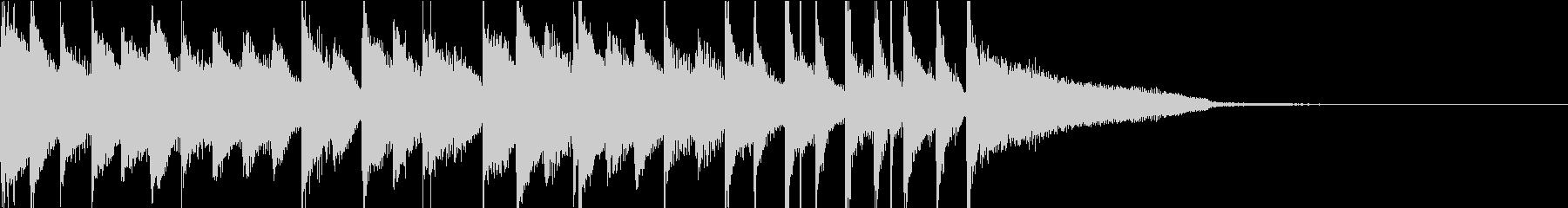 ほのぼの系15秒ジャストのバンドサウンドの未再生の波形