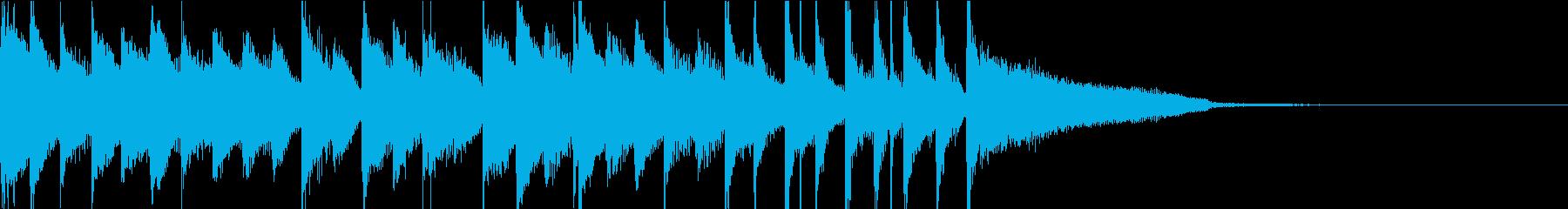 ほのぼの系15秒ジャストのバンドサウンドの再生済みの波形