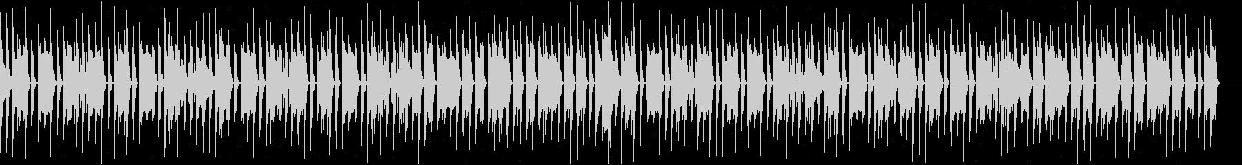 ピアノメインの軽快なBGMの未再生の波形