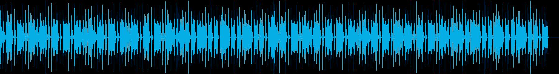 ピアノメインの軽快なBGMの再生済みの波形