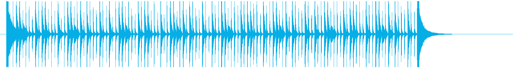 ポップで少しコミカル風!カウントジングルの再生済みの波形