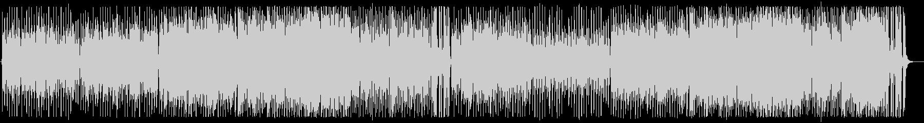 明るいジャズ風ポップスシンセサイザーの未再生の波形