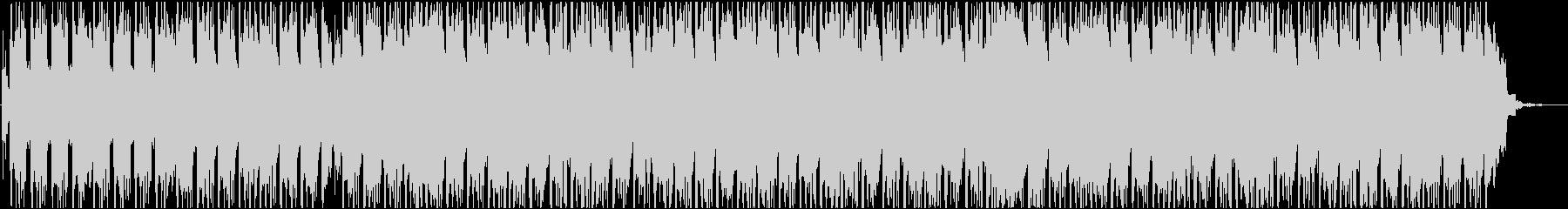 軽快なアコースティックエレクトロニカの未再生の波形