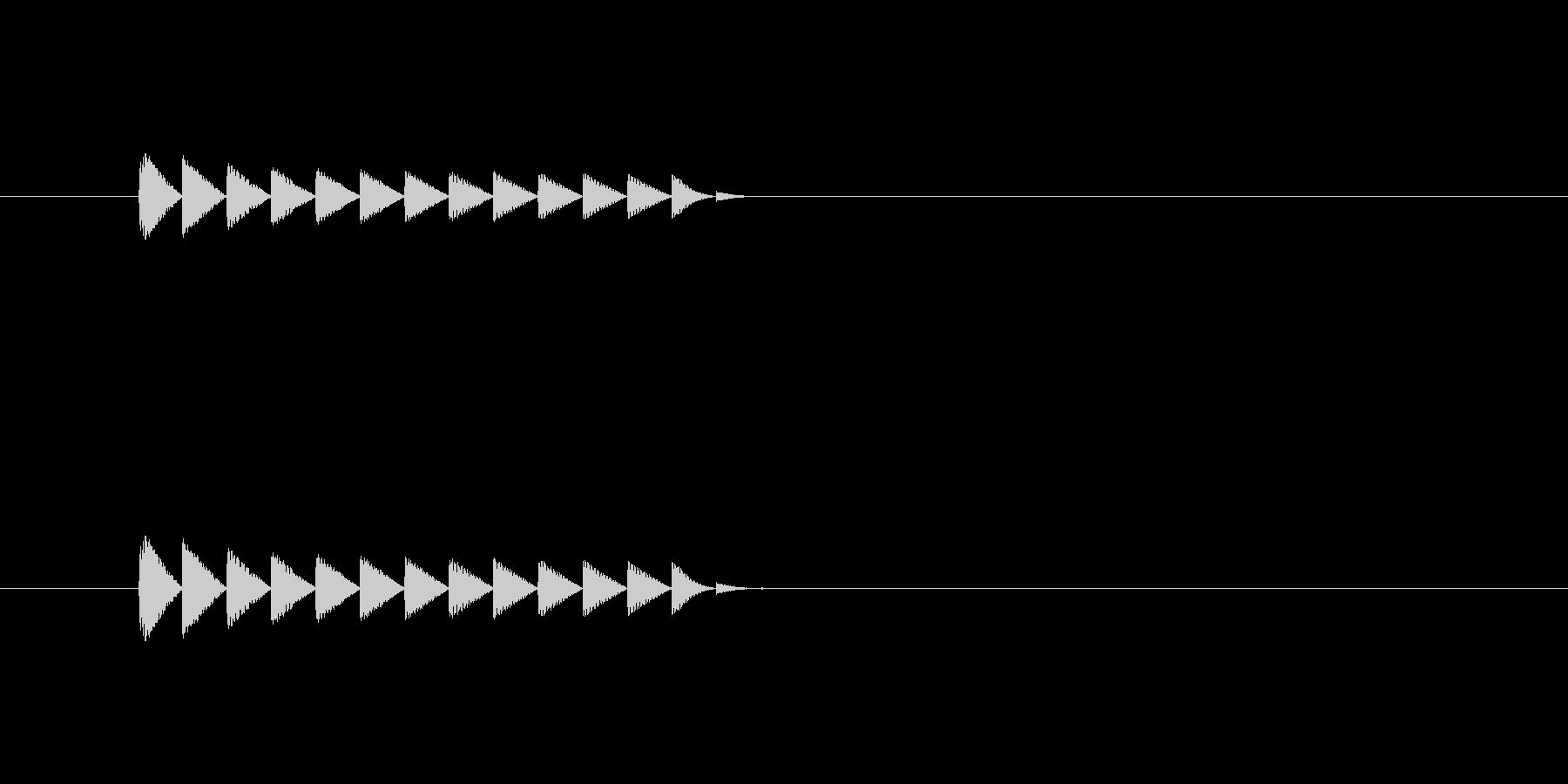 ブロック消滅(パズルゲーム)の未再生の波形