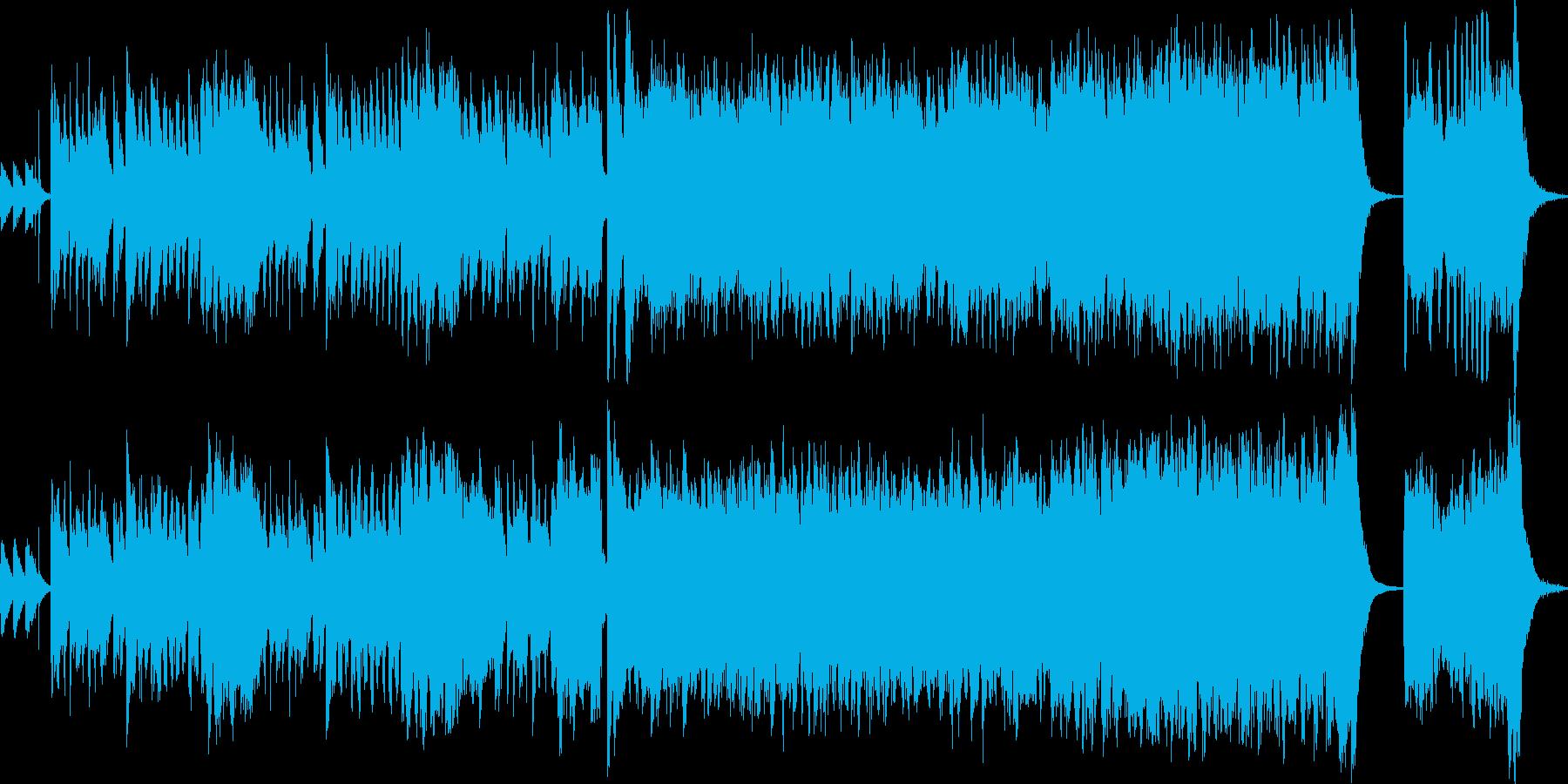 和楽器をメインにした、軽快で楽しい楽曲の再生済みの波形