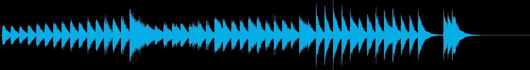節分!鬼のパンツモチーフピアノジングルFの再生済みの波形