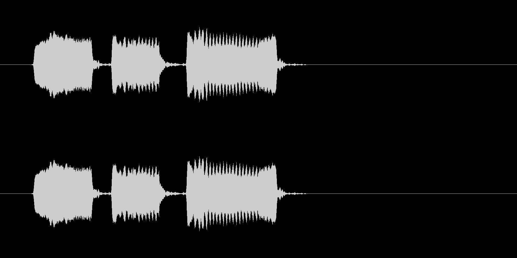 ピピピッ◆ホイッスル/競技、交通整理の笛の未再生の波形