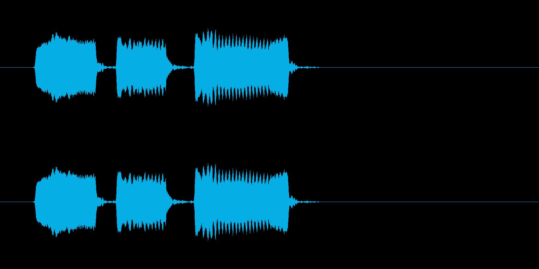 ピピピッ◆ホイッスル/競技、交通整理の笛の再生済みの波形