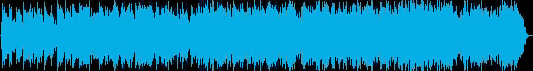 風のような竹笛の音楽の再生済みの波形