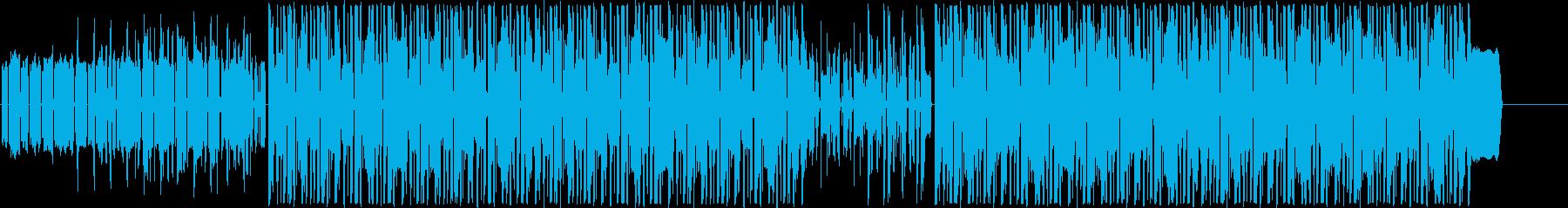 生演奏・軽快・ファンキーなギターロックの再生済みの波形