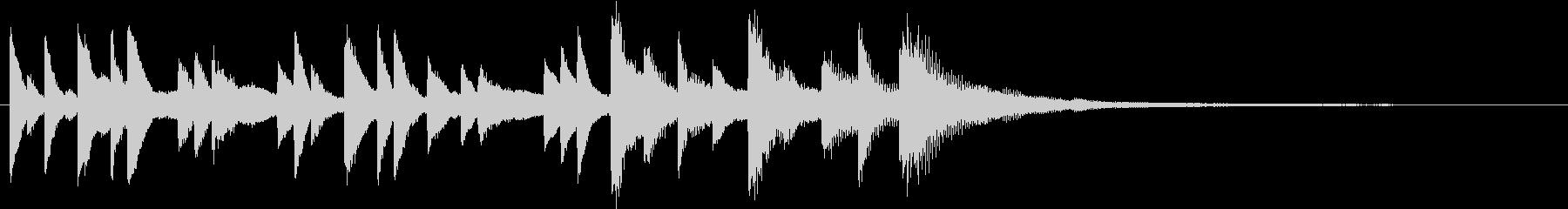 エンディング、短い、ピアノのポップスの未再生の波形