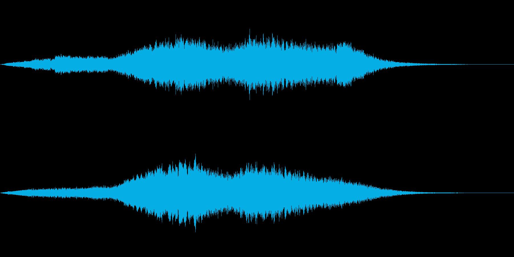 宇宙を表現した壮大なアンビエントの再生済みの波形