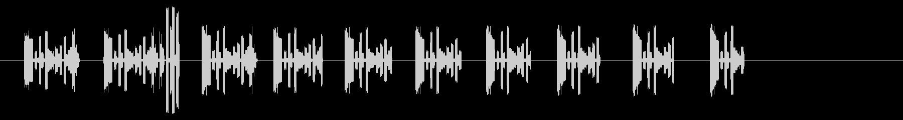 脈動電子スロースタッターの未再生の波形