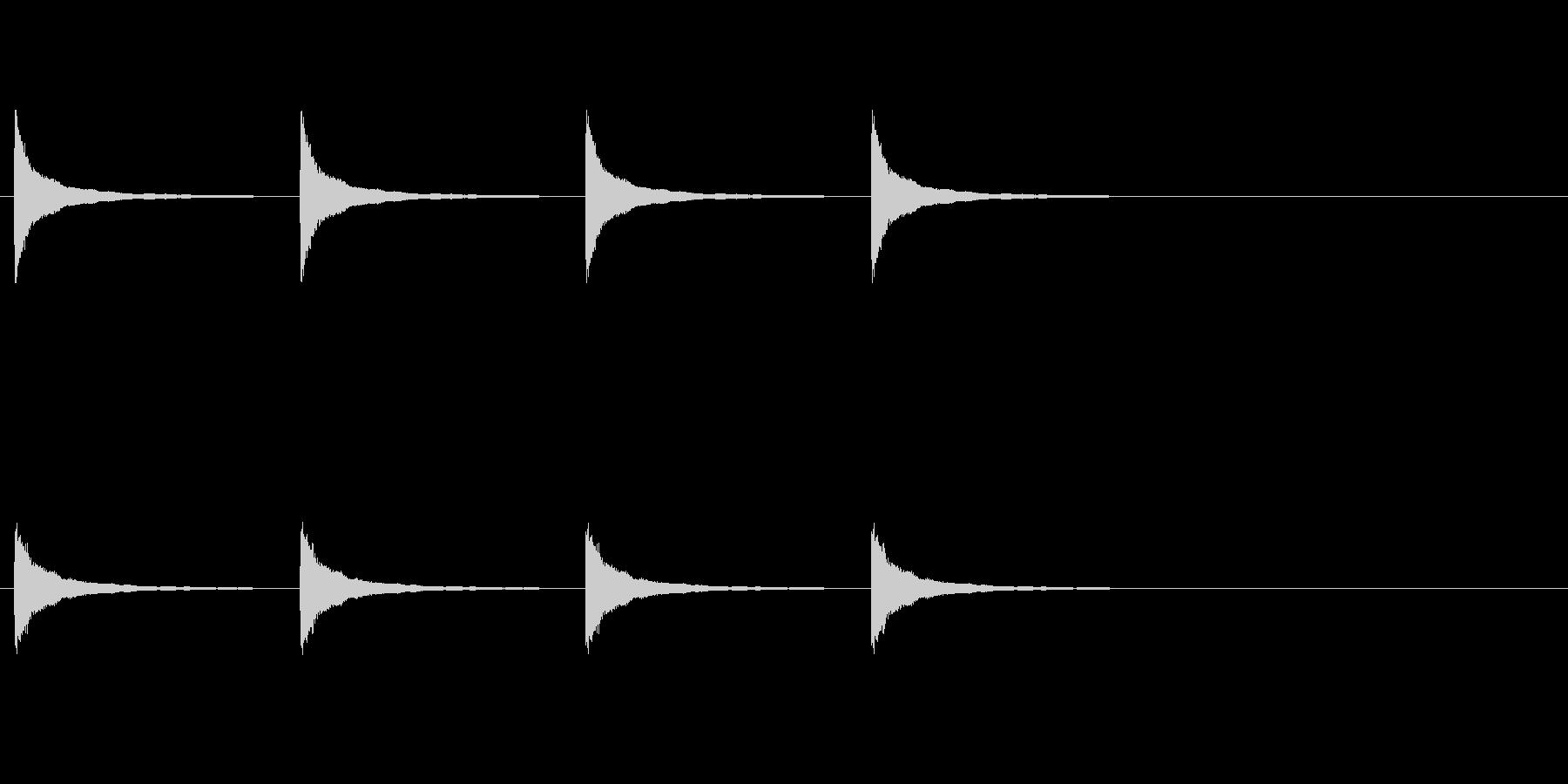 クロック料金の未再生の波形
