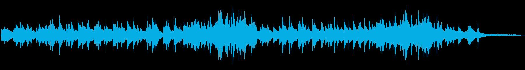 緊張感 重厚なピアノソロ 映像向けの再生済みの波形