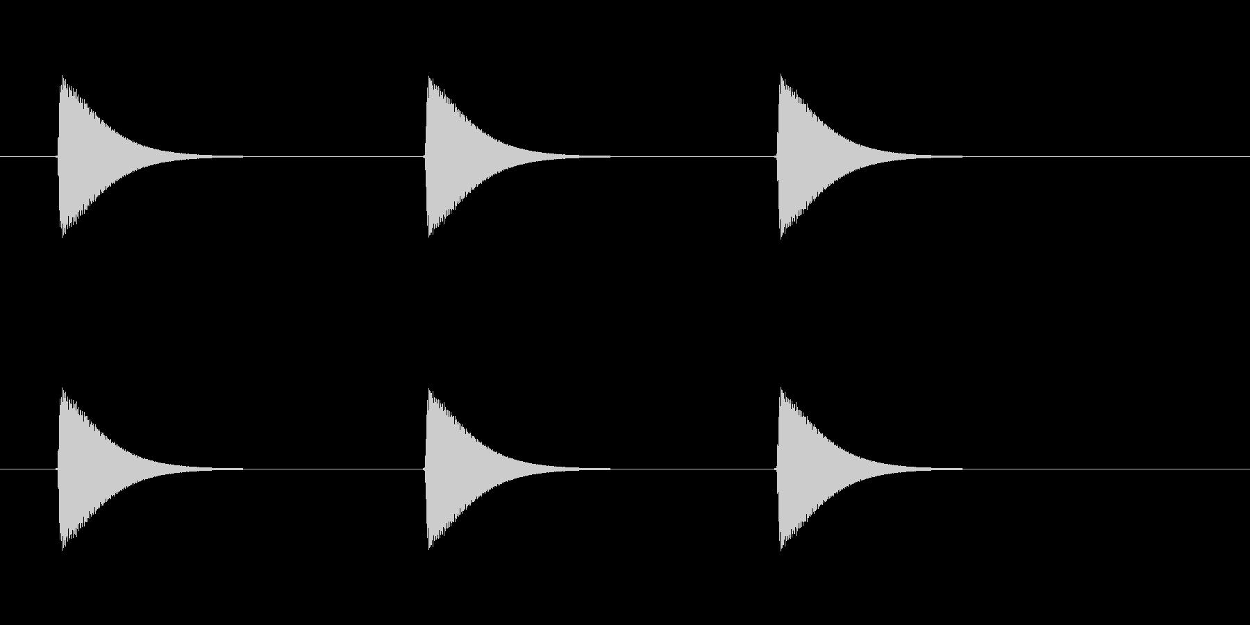 【ショートブリッジ13-1】の未再生の波形