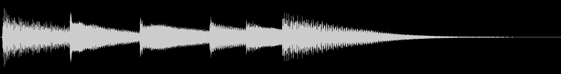 【生演奏】切ないピアノジングルの未再生の波形