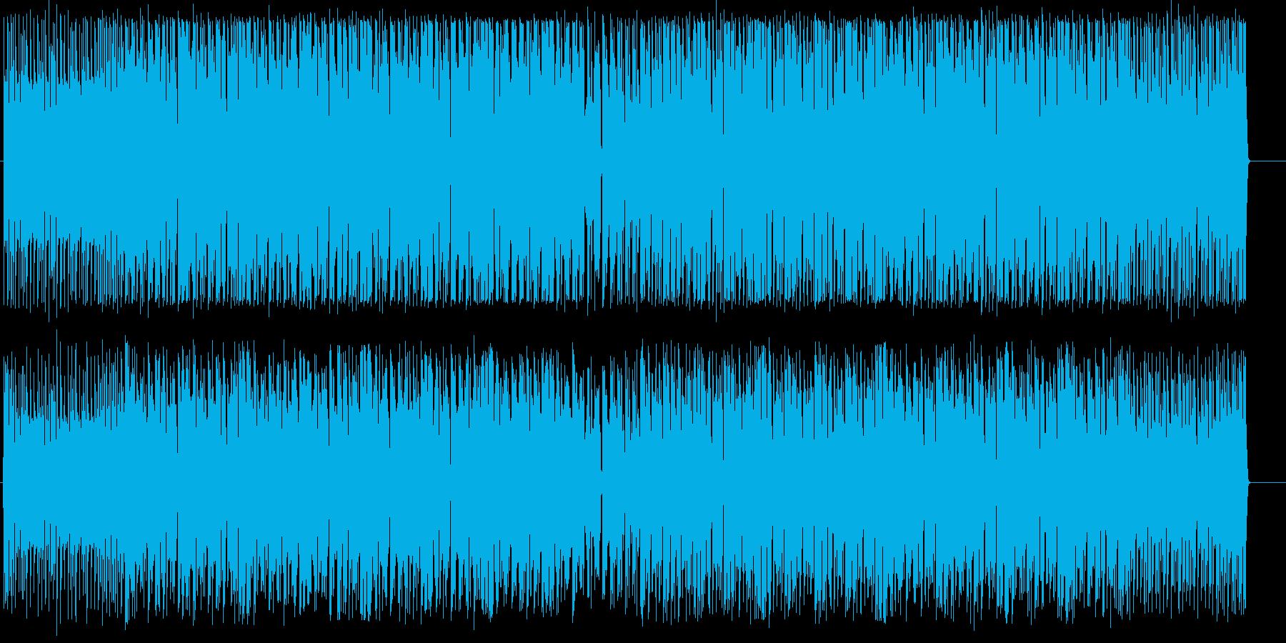 弾けるようにアップテンポのテクノの再生済みの波形