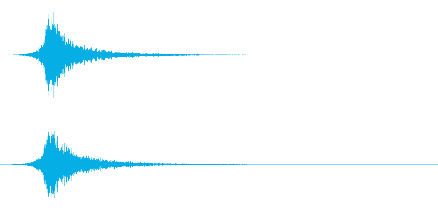 ヘビーブライトスネアドラムインパク...の再生済みの波形