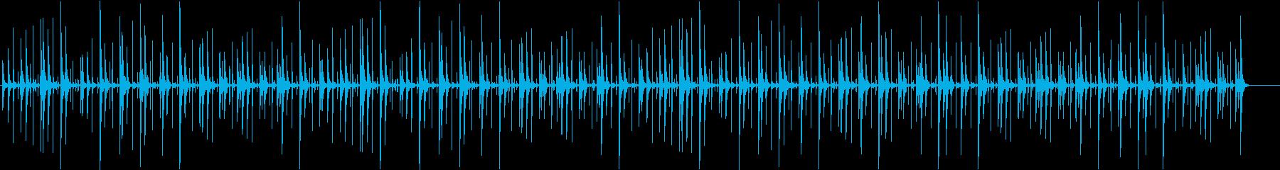 色々と使えるコンガのみのBGMの再生済みの波形