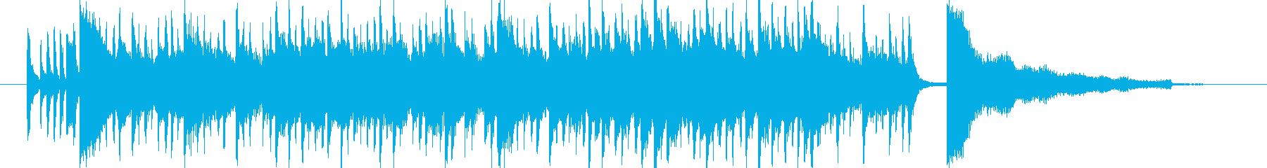 夏っぽい陽気なサウンドロゴの再生済みの波形