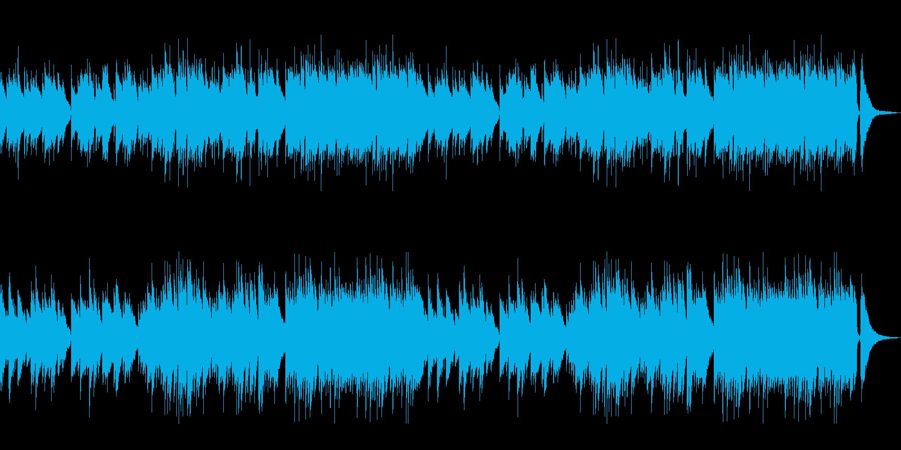 しっとりと落ち着いた和風なピアノのBGMの再生済みの波形