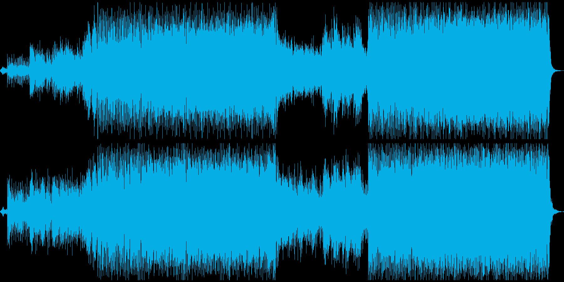 やさしくて安心感のあるメロディーの再生済みの波形