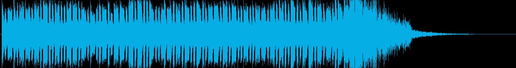 怪しい音と迫力の再生済みの波形