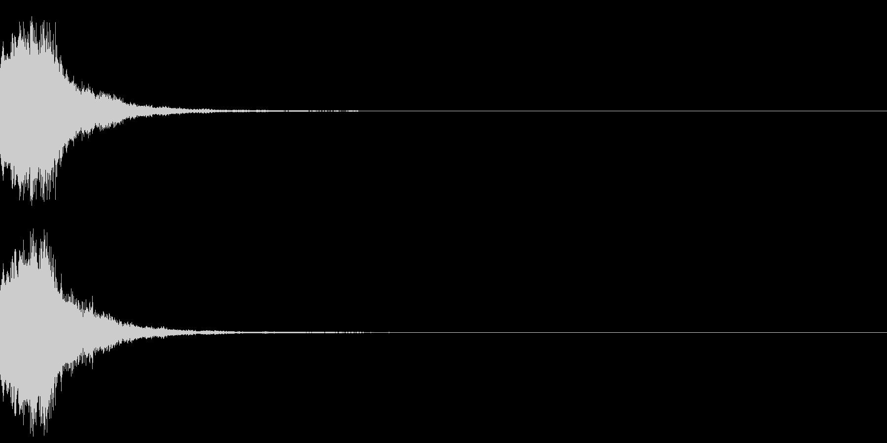 アナウンス 案内 実験 チャイム 02の未再生の波形