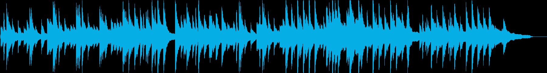 物憂げな雰囲気の切ないピアノ楽曲の再生済みの波形