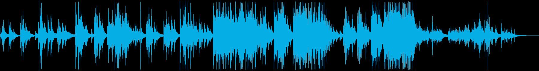 清らかなピアノの音色のリラクゼーションの再生済みの波形