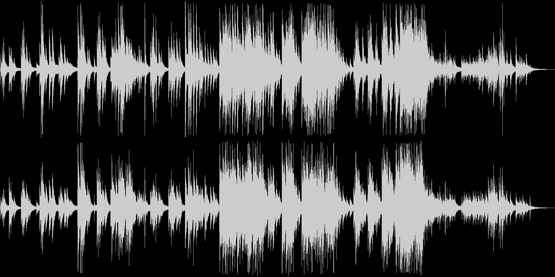 清らかなピアノの音色のリラクゼーションの未再生の波形