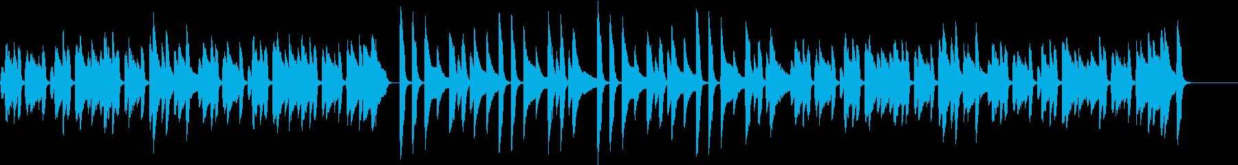ほのぼの/かわいい/猫/ピアノ/団らんの再生済みの波形