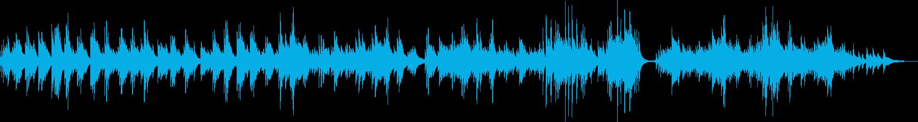切なくて感動的なピアノバラード曲の再生済みの波形