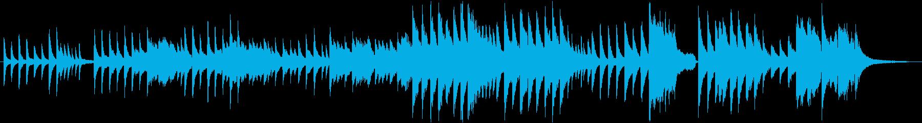讃美歌、頌栄539番のソロピアノの再生済みの波形